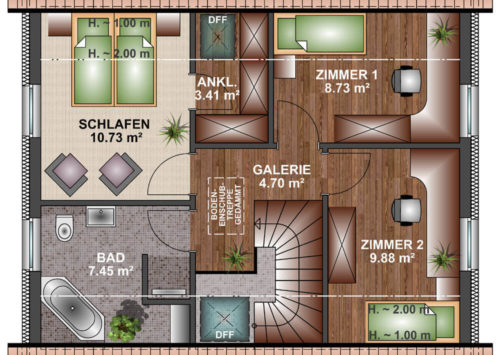 Einfamilienhaus 100 - Dachgeschoss