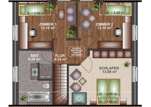 Einfamilienhaus 120 - Dachgeschoss