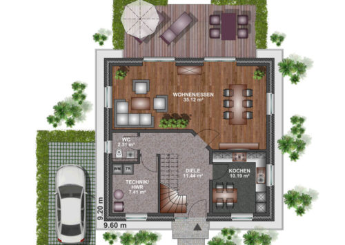 Einfamilienhaus 120 - Erdgeschoss