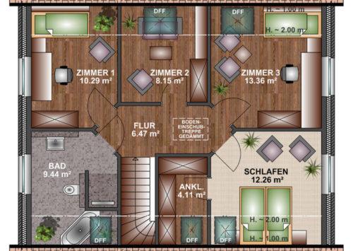 Einfamilienhaus 145 - Dachgeschoss