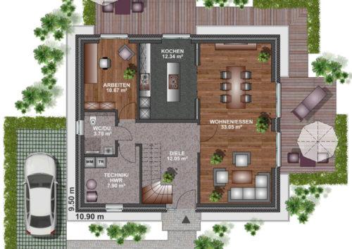 Einfamilienhaus 145 - Erdgeschoss