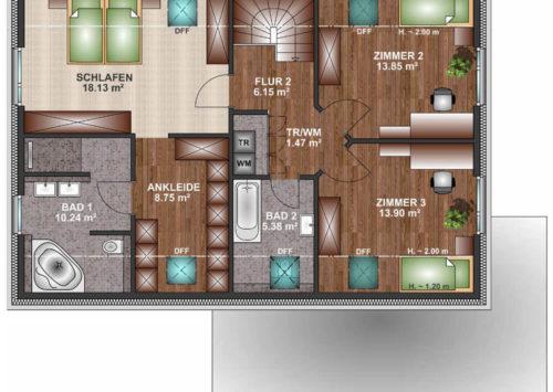 Einfamilienhaus 165 - Dachgeschoss