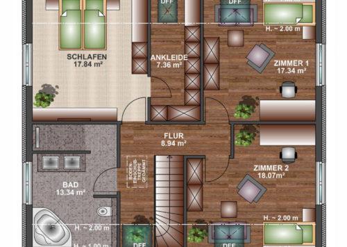 Einfamilienhaus 170 - Dachgeschoss