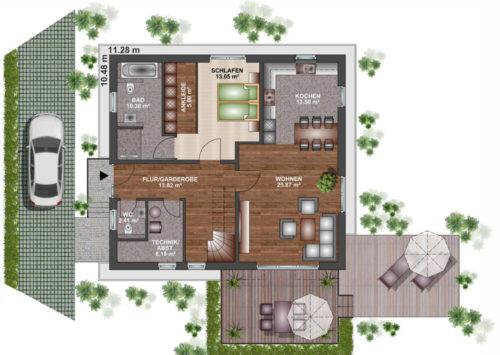 Einfamilienhaus 170 - Erdgeschoss