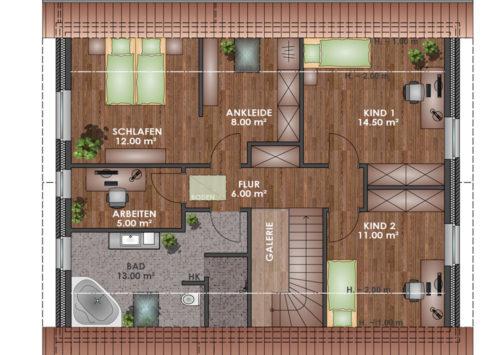 Architektenhaus 170 - Dachgeschoss