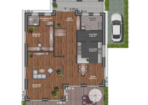 Architektenhaus 225 - Erdgeschoss