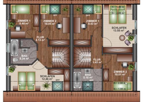 Doppelhaus SD 100 - Dachgeschoss