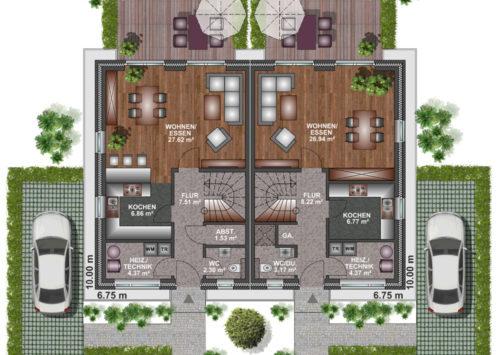 Doppelhaus SD 100 - Erdgeschoss