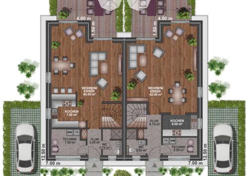 Doppelhaus SD 120 - Erdgeschoss