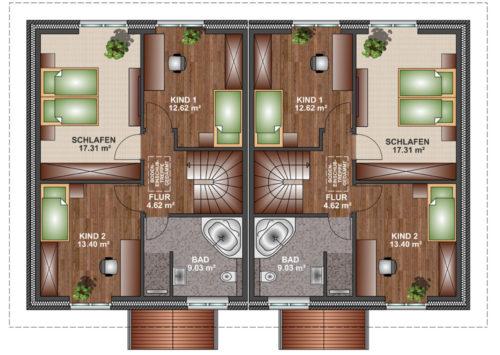 Doppelhaus SV 115 - Erdgeschoss