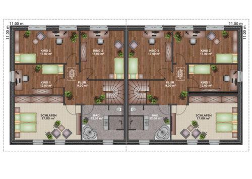 Doppelhaus SV 160 - Dachgeschoss