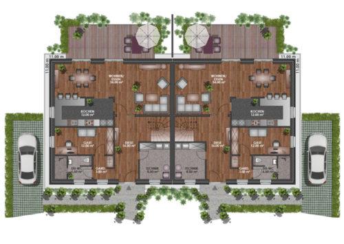 Doppelhaus SV 160 - Erdgeschoss