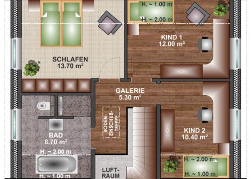 Friesenhaus 110 - Dachgeschoss
