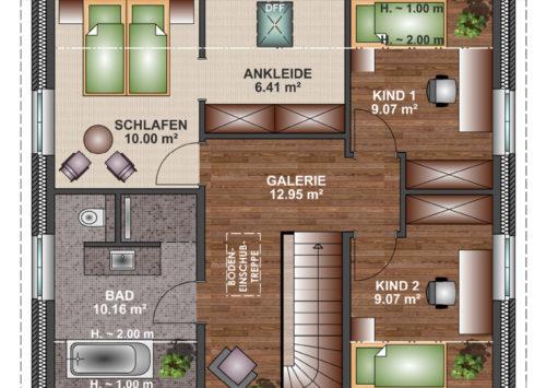 Friesenhaus 130 - Dachgeschoss