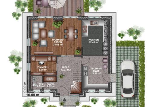 Friesenhaus 130 - Erdgeschoss