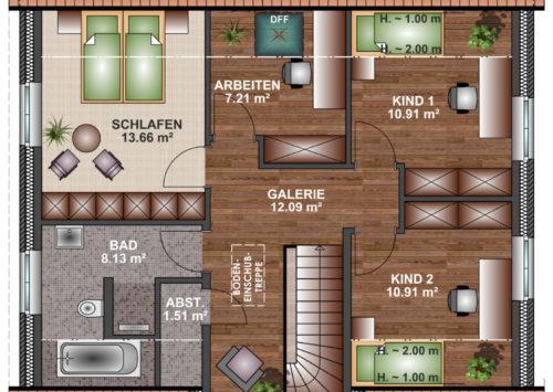 Friesenhaus 150 - Dachgeschoss