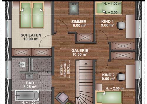 Kapitänshaus 115 - Dachgeschoss