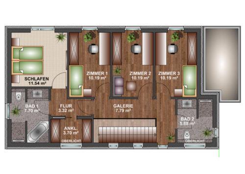 Kubushaus 150 - Dachgeschoss