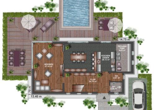Kubushaus 150 - Erdgeschoss