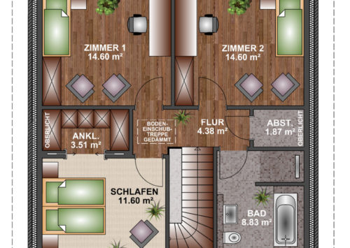 Stadtvilla 125 - Dachgeschoss