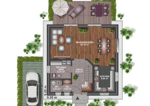 Stadtvilla 125 - Erdgeschoss