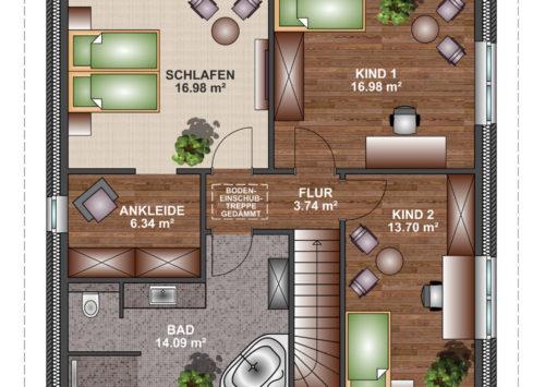 Stadtvilla 150 - Dachgeschoss