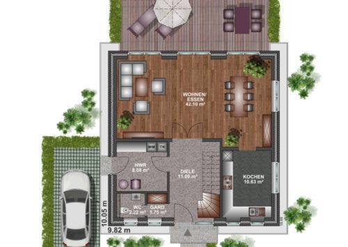 Stadtvilla 150 - Erdgeschoss