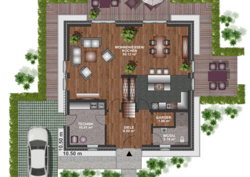 Stadtvilla 165 - Erdgeschoss